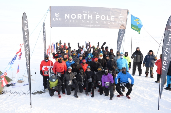The North Pole marathon 2014. No free use!